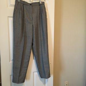 Vintage High Rise Herringbone Trousers Lined
